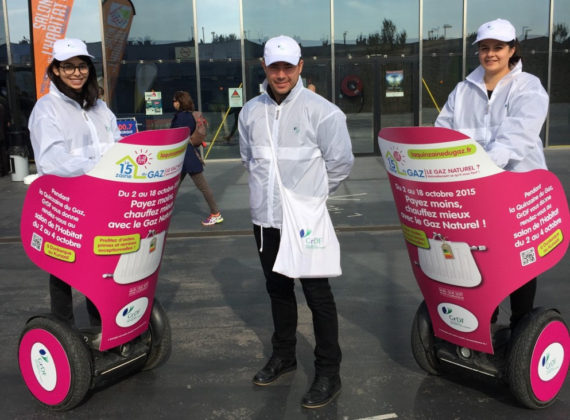 Street marketing et Segways  pour GRDF